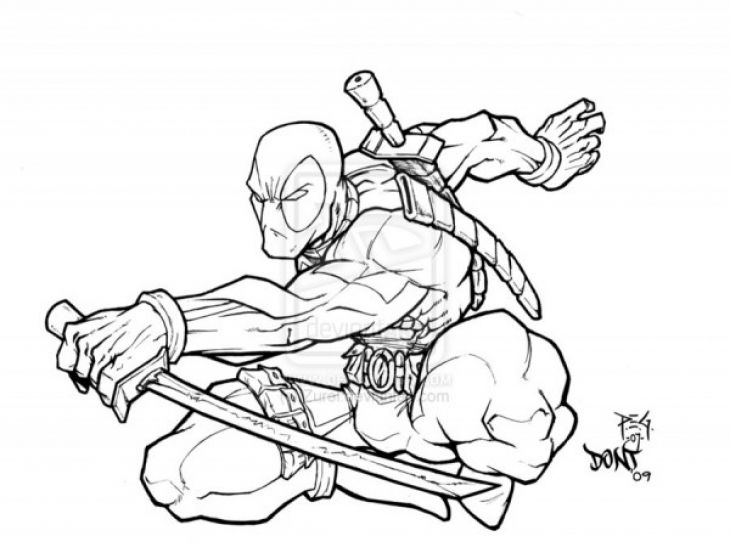 Free Deadpool Coloring Page To Print Out Superheroes Coloring