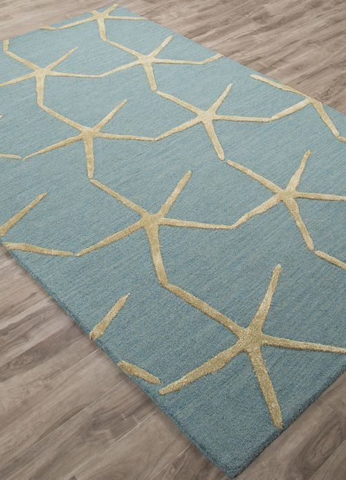 Wool And Art Silk Is Artfully Hand Tufted Into A Gorgeous Mineral Blue And Light Olive Pattern Of Large Fi Beach Cottage Decor Wool Area Rugs Coastal Area Rugs