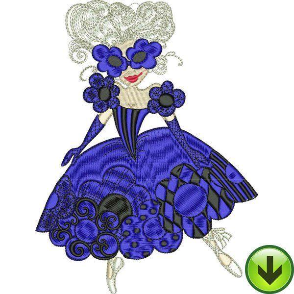 Blue Daisy Dancer Machine Embroidery Design | Download