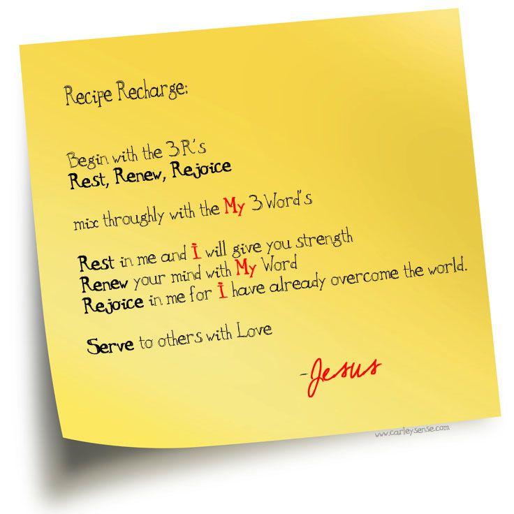 The Three R's....