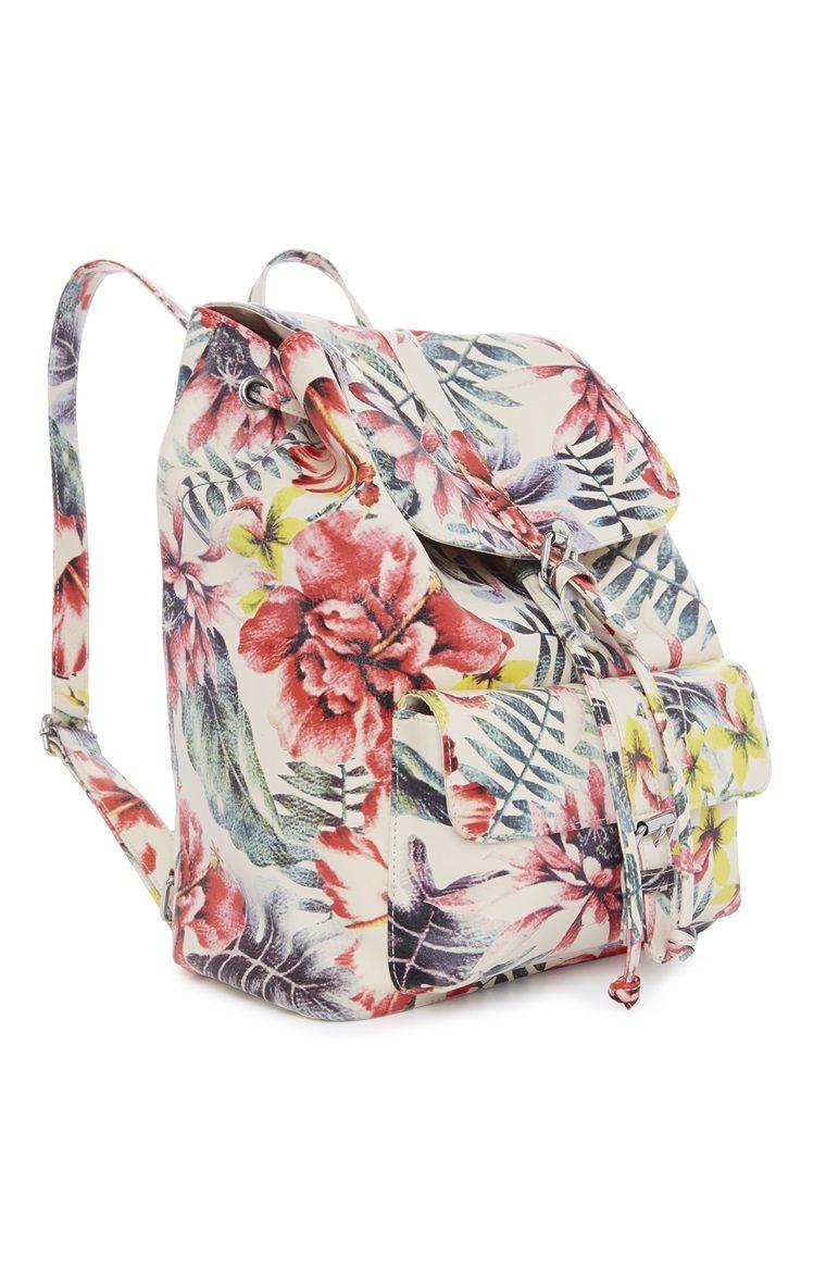 Primark Floral Print Back Pack P R I M A R K