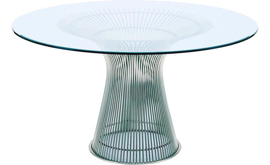 Platner Nickel Dining Table - hivemodern.com 3036 $