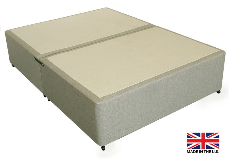 4'6 Double Beige Fabric Platform Top Divan Bed Base - Drawer Options Available - Monsterbeds £124 incl delivery