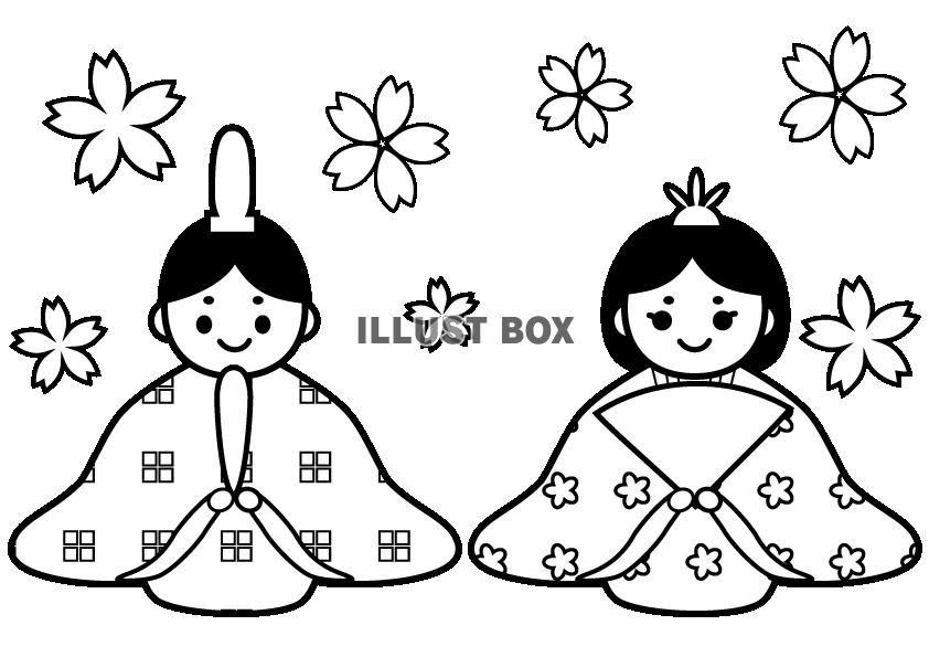 ひな祭り 塗り絵 Nursery Theme Hina Matsuri Hina Matsurihina