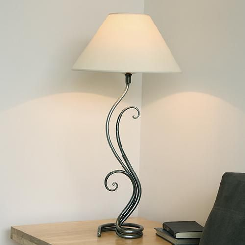 Iron Table Lamp: fern wrought iron table lamp by belltrees forge - This fabulous table lamps  design is based,Lighting