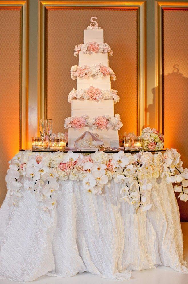 Fabulous Wedding Cake Table Ideas Using Flowers Belle The Magazine Wedding Cake Table Wedding Cake Table Decorations Cake Table Decorations