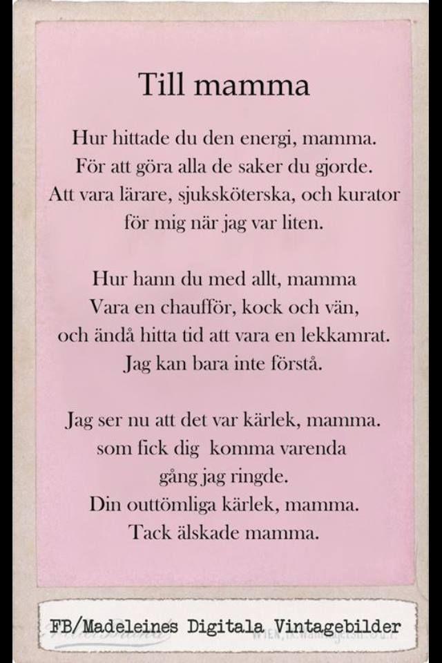 Till Mamma Mamma Citat Citat Om Familjen Ordsprak Om Karlek