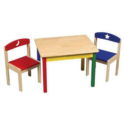 Guidecraft Moon Amp Stars Table Amp Chair Set Kids Table