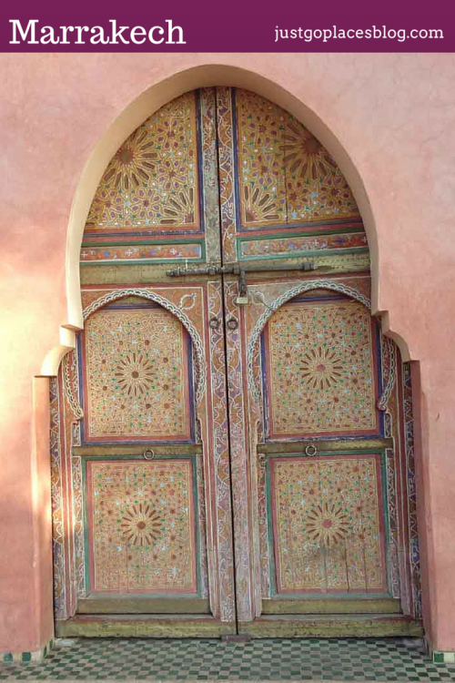 The doors of Marrakech are very colourful and intricate.