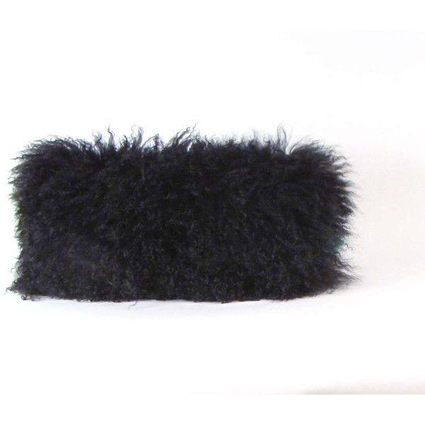striped black covers cushions fur wolf pillow faux cushion
