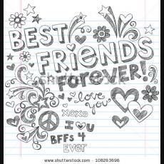 Cute Pictures To Draw For Your Best Friend Imgbucket Com Bucket List In Pictures Friends Illustration Best Friend Drawings Drawings Of Friends