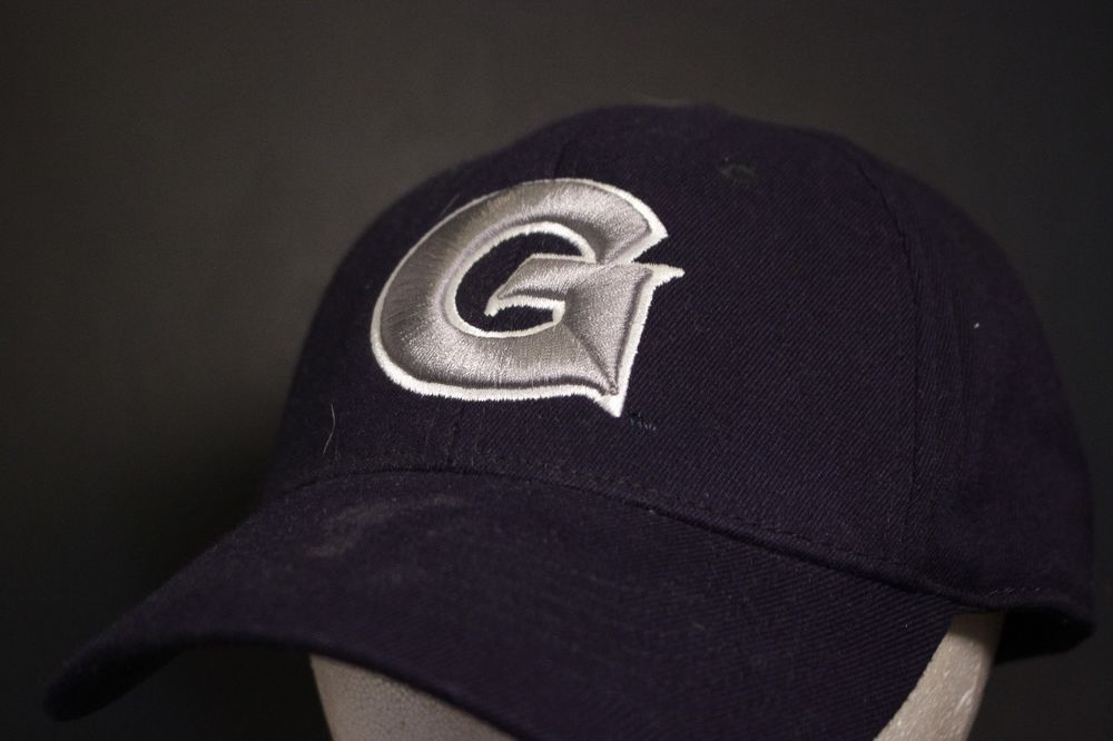 da67c942c97 Georgetown Hoyas Hat Baseball Cap Fitted One Fit Stretch L XL Navy   TopoftheWorld  BaseballCap