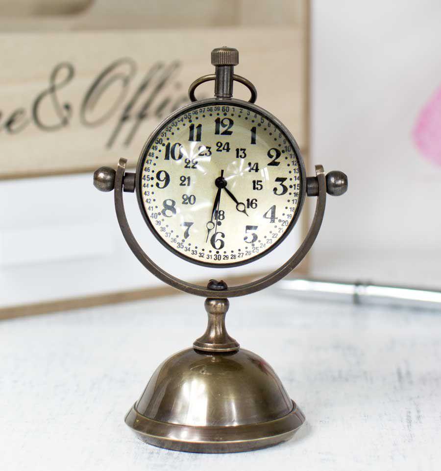 Horloge De Bureau Originale horloge décorative à poser de bureau antique collection en