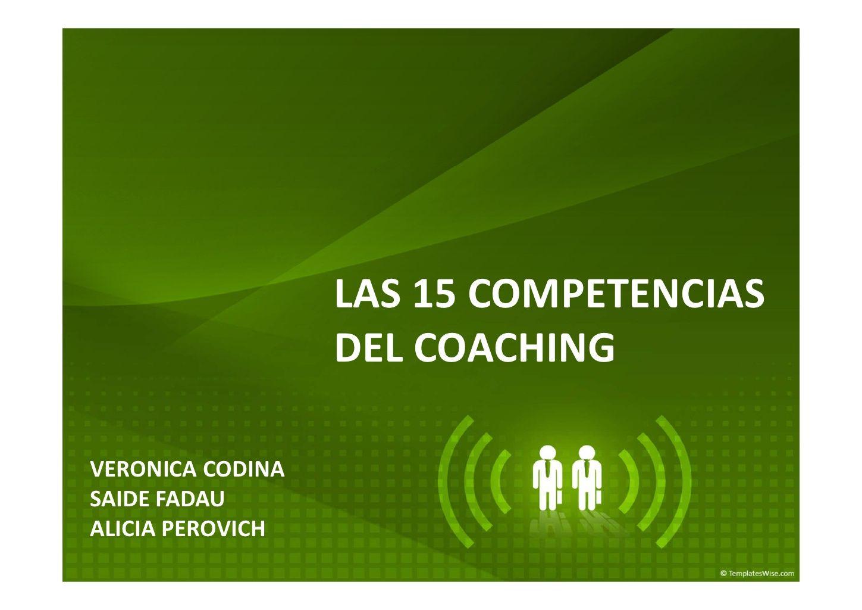 presentacin-las-15-competencias-coaching-tisoc by VERONICA CODINA PIÑEIRO via Slideshare