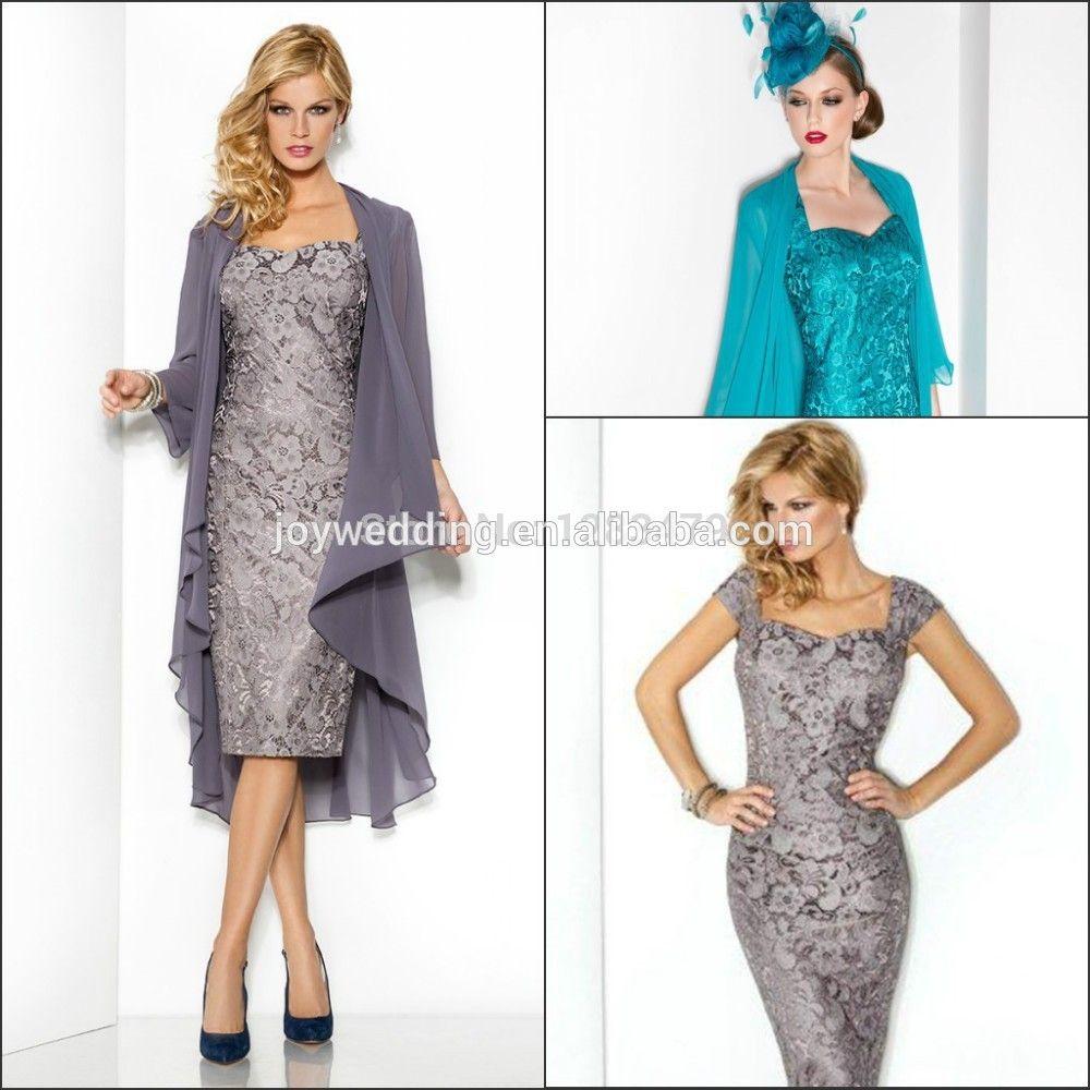 vintage elegant 2015 mutter der braut kleider kurzarm spitze mantel ...