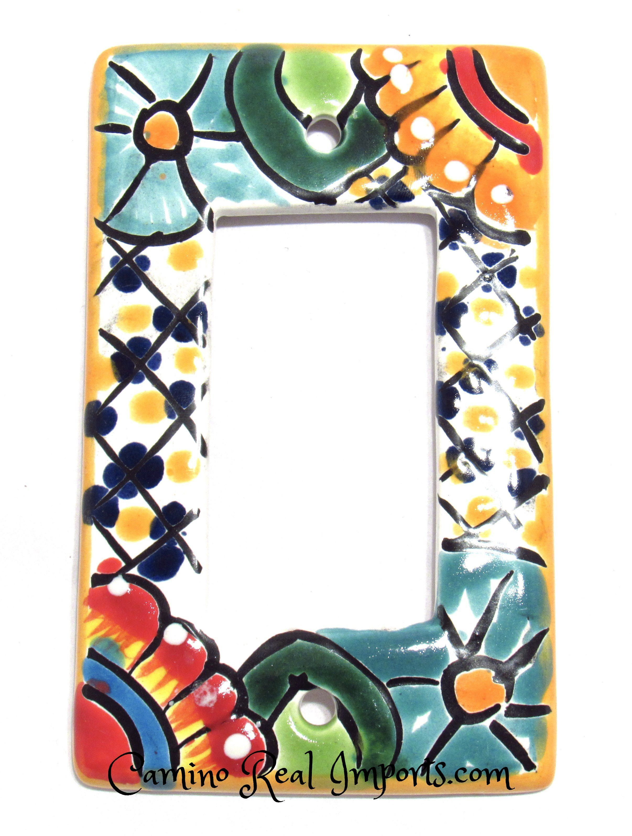 Mexican Talavera Electrical Outlet Cover Plates Designs and Colors Vary!