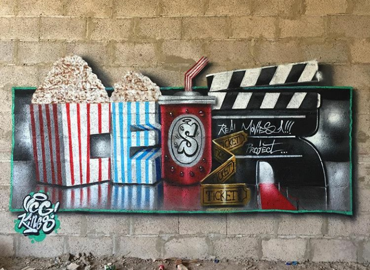 Brick Wall Graffiti Art By Ceser Made With Spray Paint 2018 Trendy Wall Art Graffiti Art Graffiti