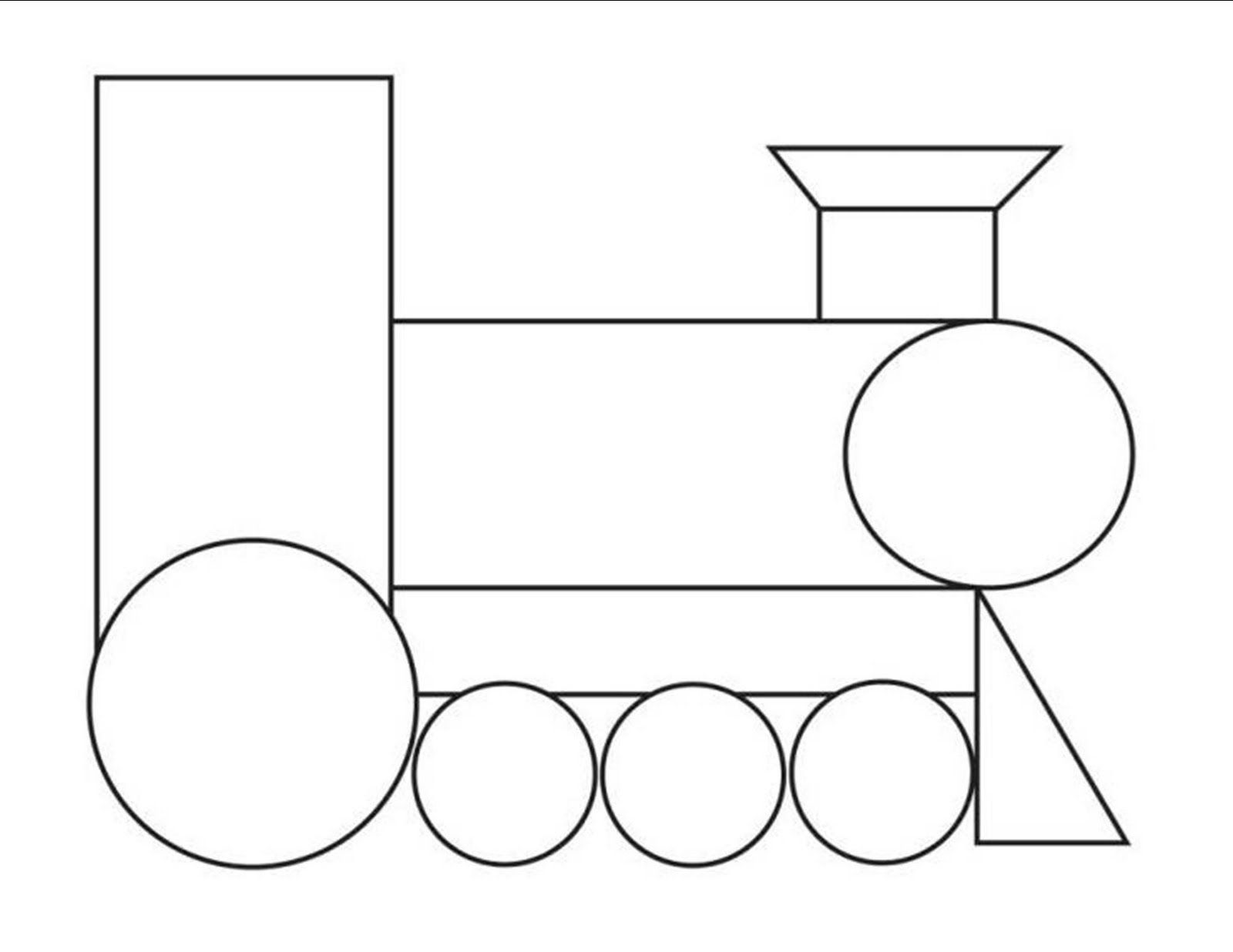 simple train outline printable