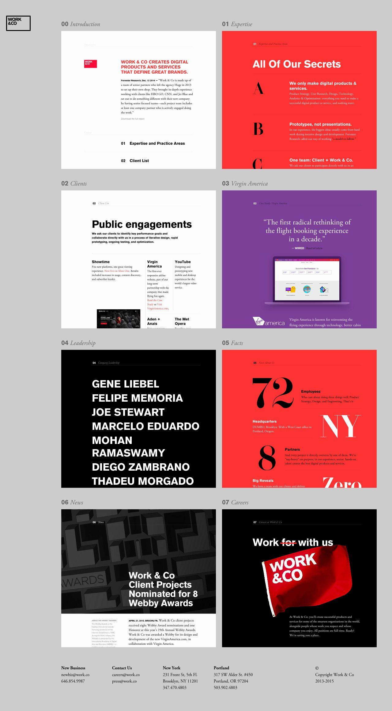 Work Co Website Inspiration One Page Website Web Design Websites