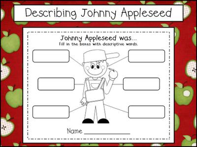 Free Printable Describing Johnny Appleseed Worksheet Nice