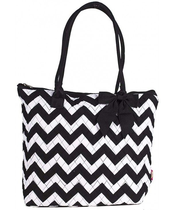 Chevron Print Travel Tote Bag,