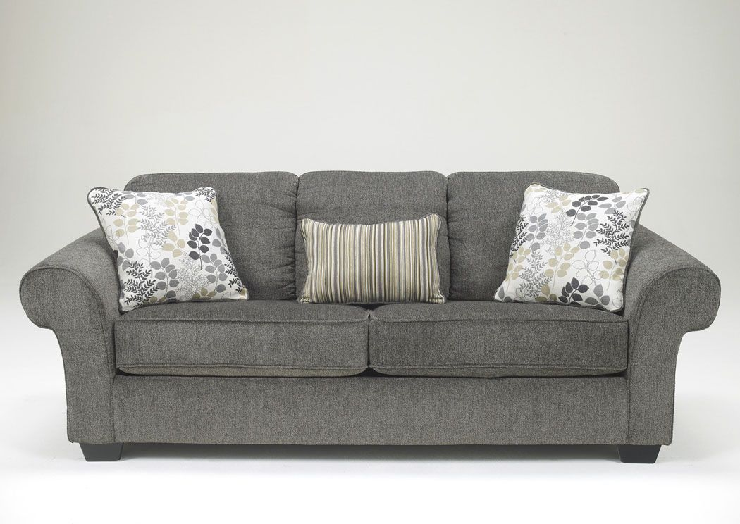 Jennifer Convertibles Sofas Sofa Beds Bedrooms Dining Rooms More Makonnen Charcoal