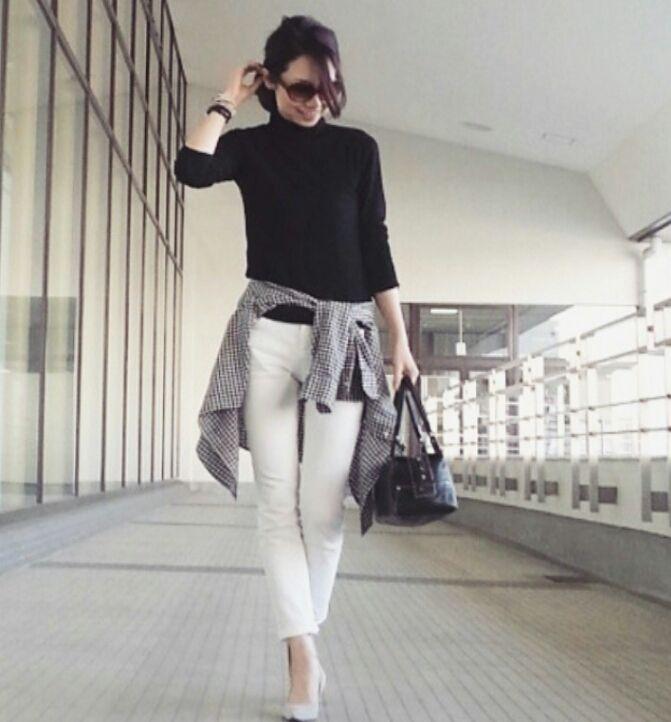 【コーデ】ギンガムチェックシャツを大人っぽく着るコツ |TOKYO BASE ー大人のプチプラコーデブログー