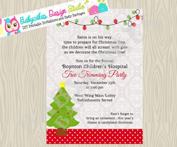 Tree Trimming Party Invitation Holiday Party Gift by jcbabycakes – Tree Trimming Party Invitation