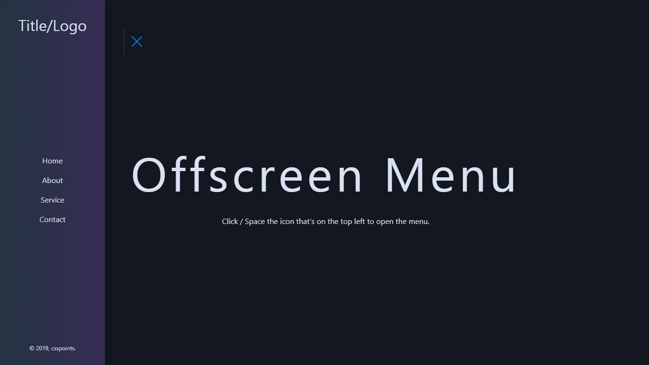Left Side Css Custom Menu Using Only Pure Css Csspoints Com Css Css Style User Interface