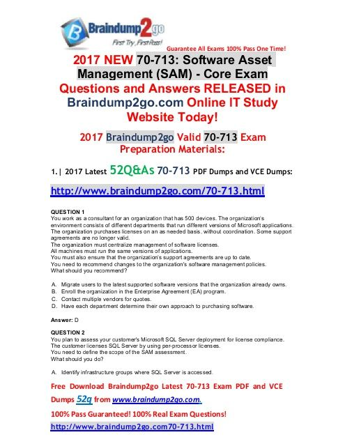 2017 June New70 713 Vce And 70 713 Pdf Dumps 52q Free Share1 8