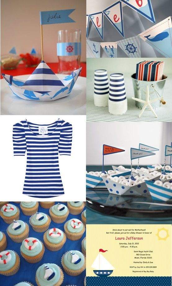 Baby Shower Ideas Sailor sailor baby shower inspiration board | baby shower | pinterest