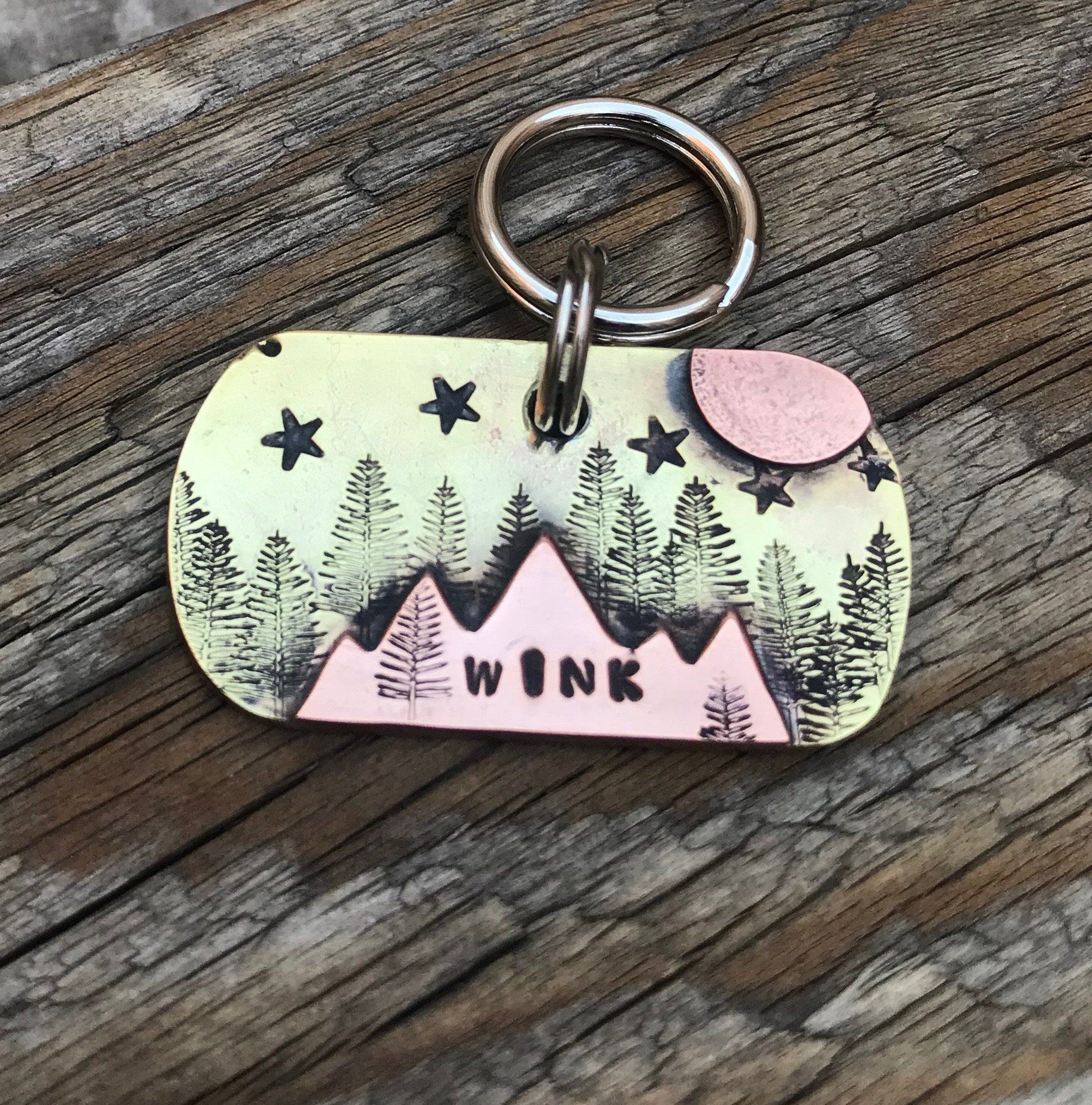 Miraculous Mountain And Pinetree Dog Tag Personalized Dog Tag Outdoor Download Free Architecture Designs Intelgarnamadebymaigaardcom