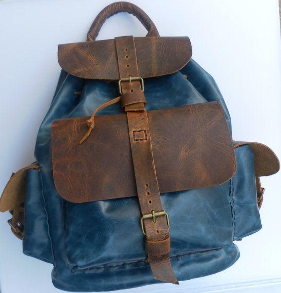 Rucksack backpack  /  handmade leather backpack made by NadiraBag, $345.00