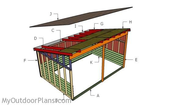 12x18 run in shed roof plans myoutdoorplans free woodworking plans and projects diy shed Horse run in shed plans design