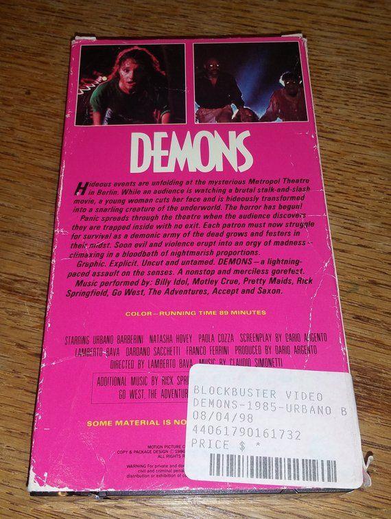 Demons Vintage VHS Movie Cassette Tape | Vhs movie, Movies ...