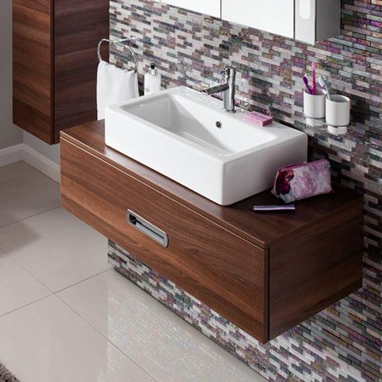 Bauhaus Seattle 100 Walnut Single Drawer Console Unit Vanity