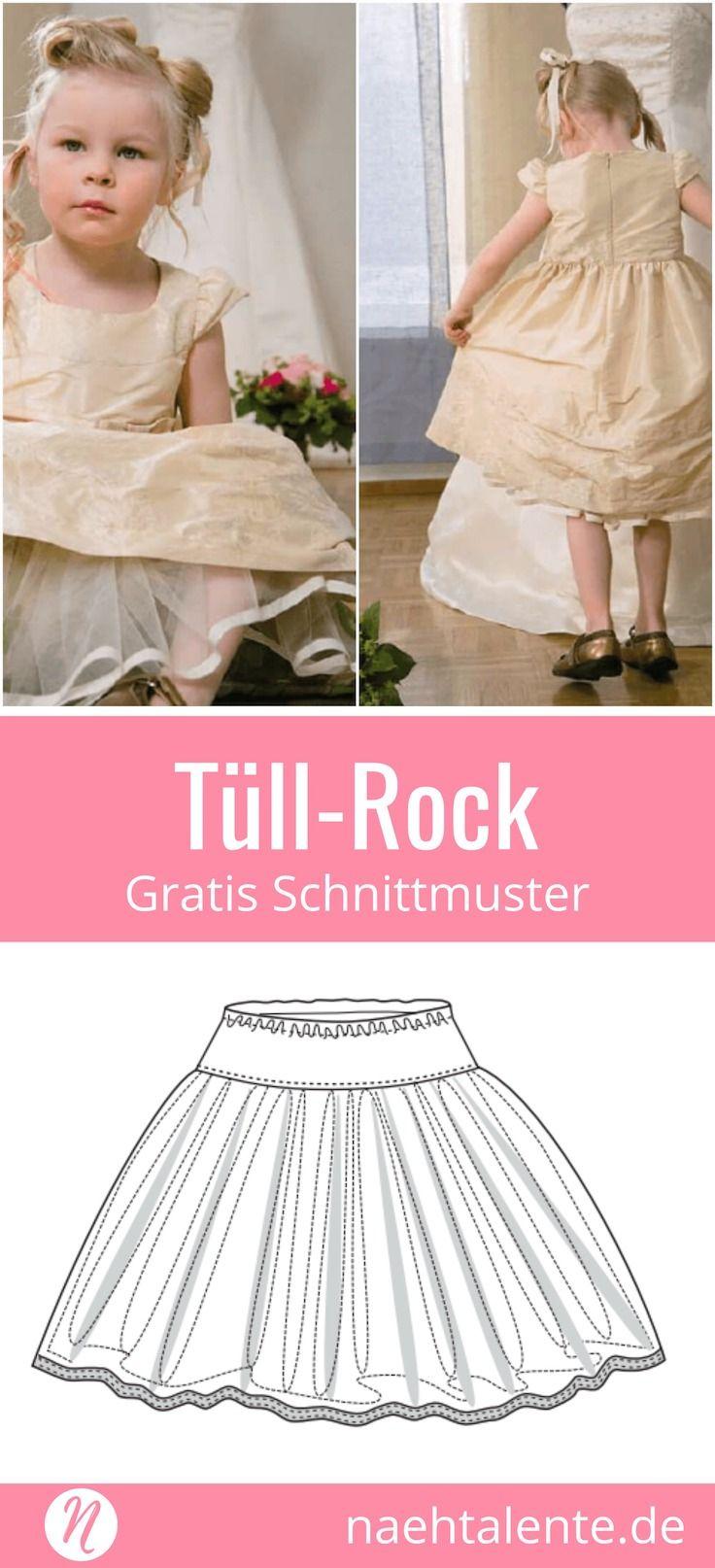 Tüllrock für Mädchen - Freebook   Tüllrock, Nähanleitung und Girls