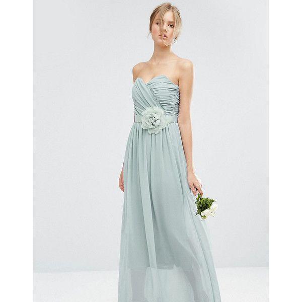 ASOS TALL WEDDING Chiffon Bandeau Maxi Dress ($33) ❤ liked on ...