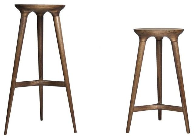 Furniture Delightful Contemporary Wood Stool Kingstown Barstool