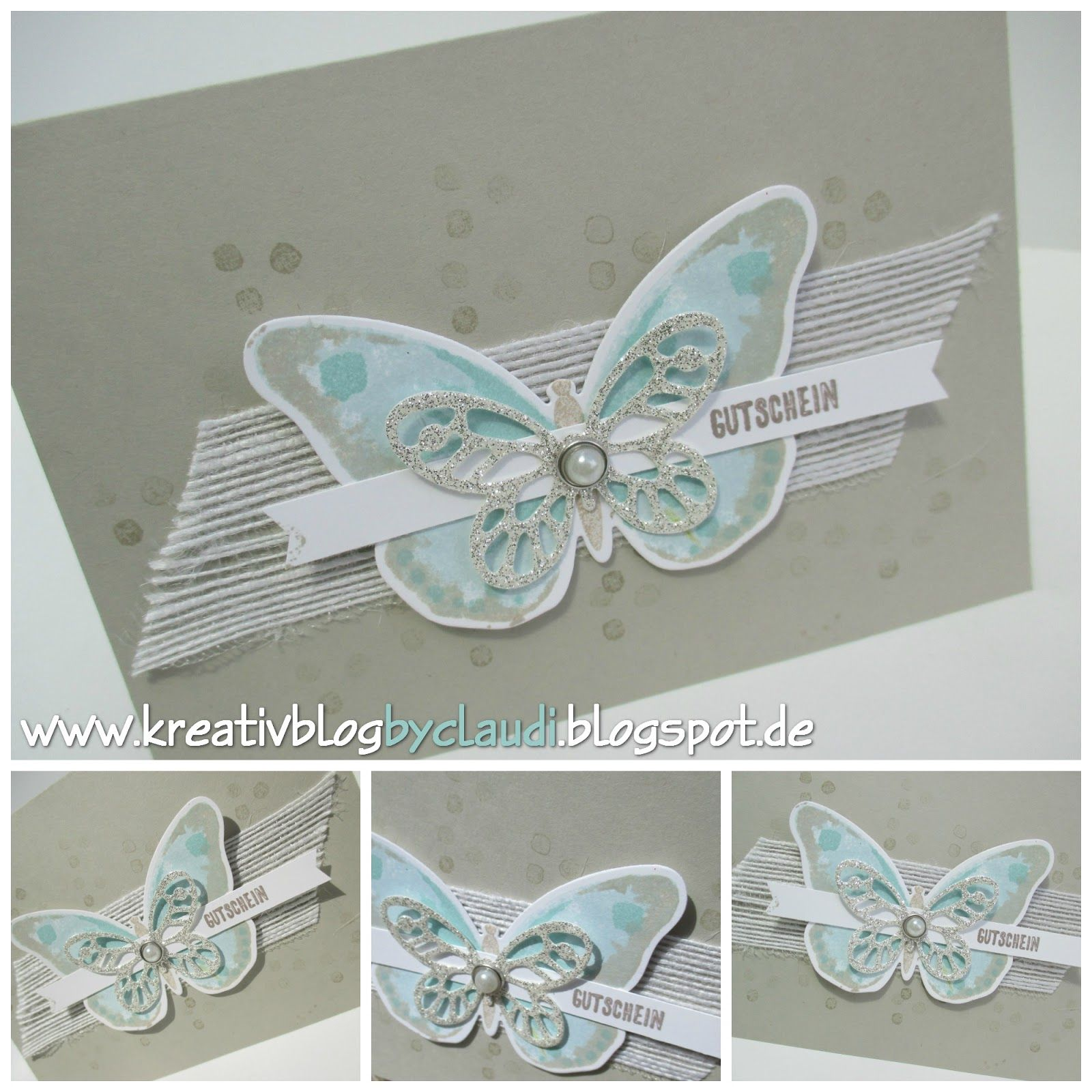 www.kreativblogbyclaudi.blogspot.de: Thinlits Butterfly Greeting