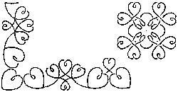 Quilt Stencils Loopy Hearts 2-1/2in Borders, 4in Block