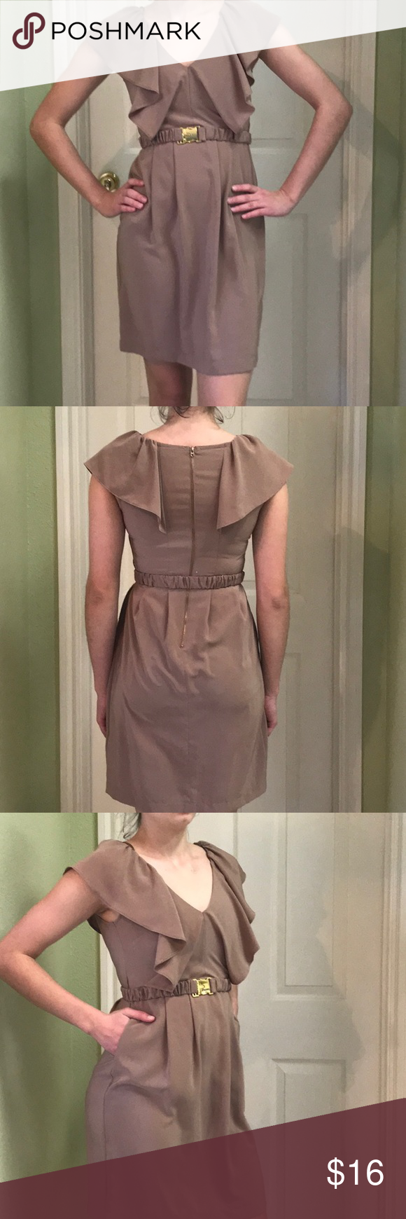 Tan Mini Summer Dress Good Used Condition Sized As Size 4 But Runs On A Small Side Would Fit Better Size 2 Mini Dresses Summer Summer Dresses Clothes Design [ 1740 x 580 Pixel ]