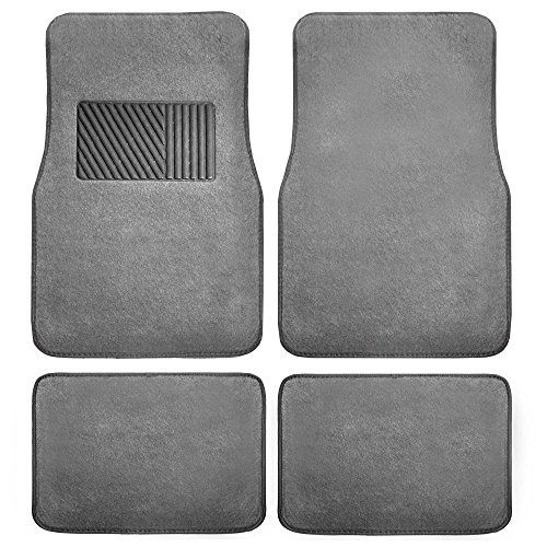 Fh Group F14403gray Gray Carpet Floor Mat With Heel Pad Deluxe Car Floor Mats Floor Mats Carpet