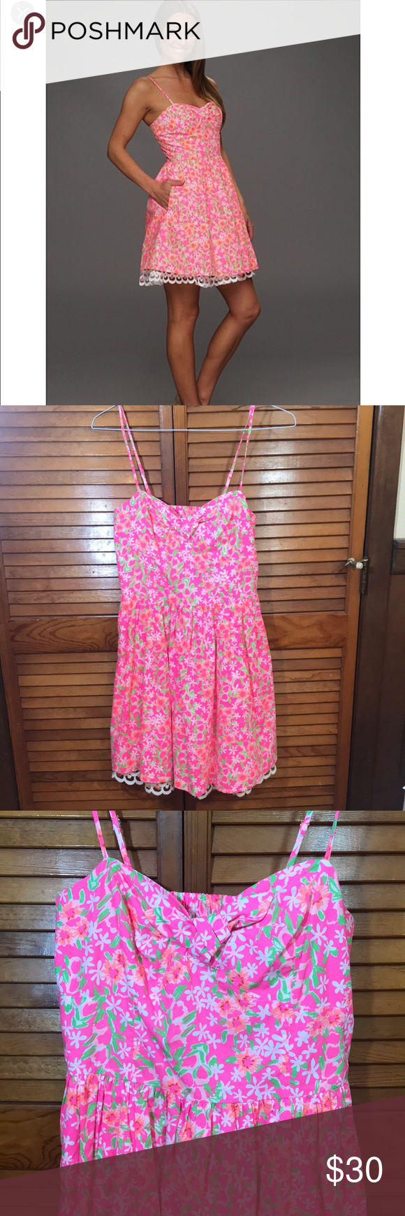 Lilly Pulitzer Macually dress in fiesta pink 8 Lilly Pulitzer ...