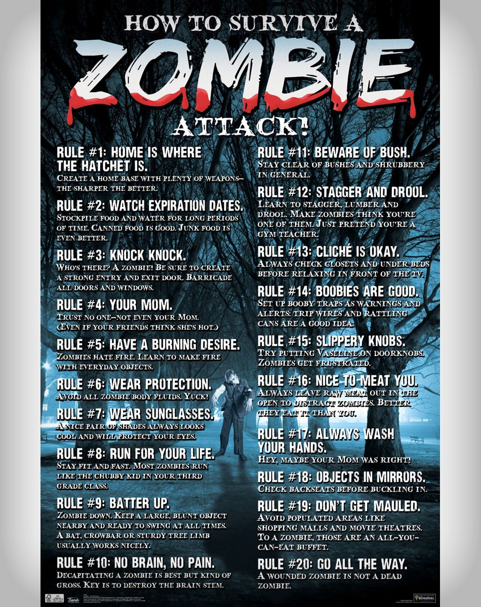 how to survive a zombie attack Here's how to survive the upcoming zombie apocalypse  put together your plan of attack for your meals this week,  how to survive a zombie apocalypse.