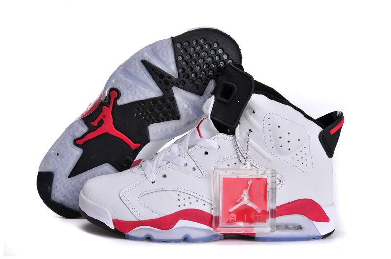 To Buy Popular Online Nike Air Jordan VI 6 Retro Womens Shoes Glow In The Night All White Red Black New year