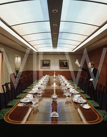 Grand Metropolitan Overall View Of Executive Dining Room With