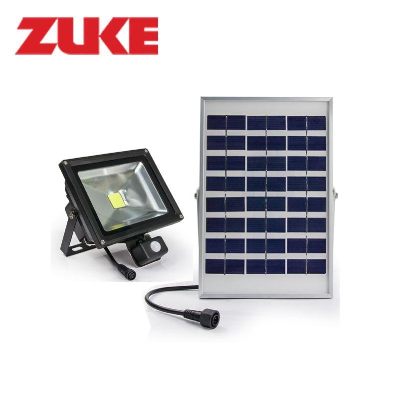 zuke 4w solar panel powered outdoor led garden lights 3 2w motion sensor floodlights waterproof street nigh fairy for trees
