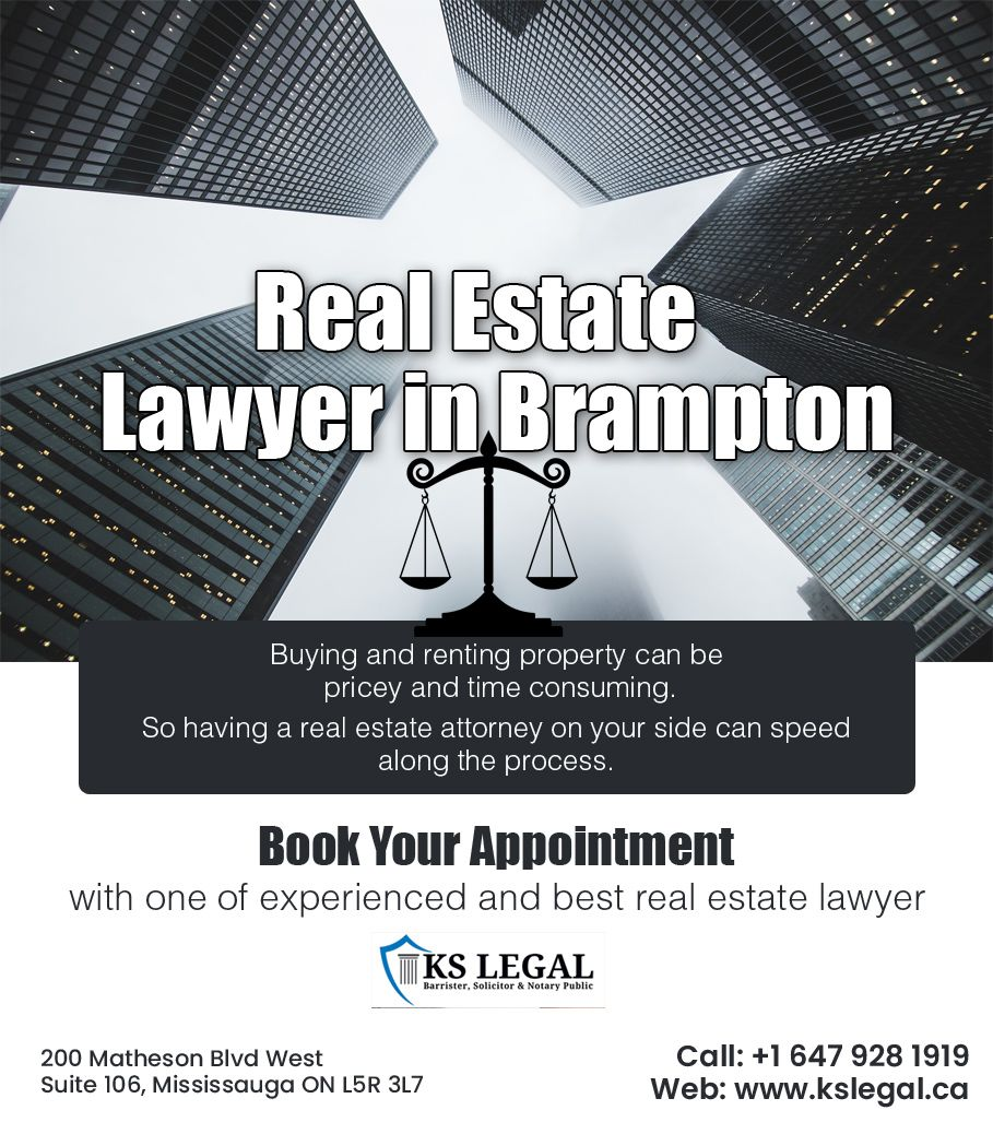 Ks Legal Firm Offers Real Estate Lawyer In Mississauga Brampton