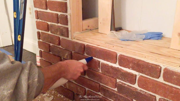 Easily Update Brick With A Diy German Smear Technique White Wash Brick White Wash Brick Fireplace Painted Brick Walls
